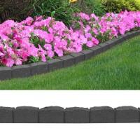 rubberen grasafboording 120 cm
