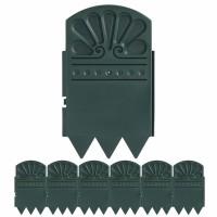 Afboording in plastic- lot van zes stuks (zwarte kleur)