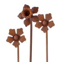 Boeket smeedijzeren bloemen - 2 x narcis + 1 x margriet