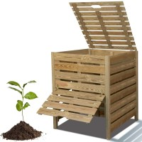 Compostbak in hout 1m hoog