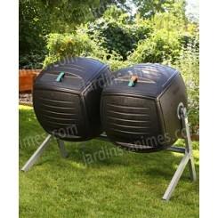 compostvat roterend - 380 liter-twee compartimenten