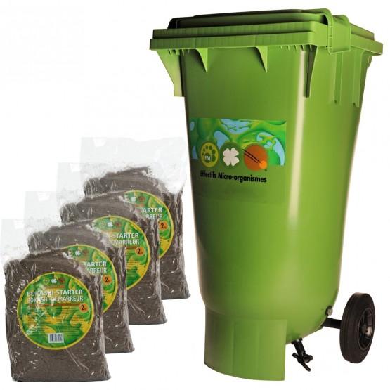 BOKASHI compostcontainer  met 4 x 2 kg bokashi-starter