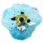 klaproos in glas - transparant blauw