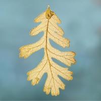 Eikenblad-goudmetaal- 24 karaat