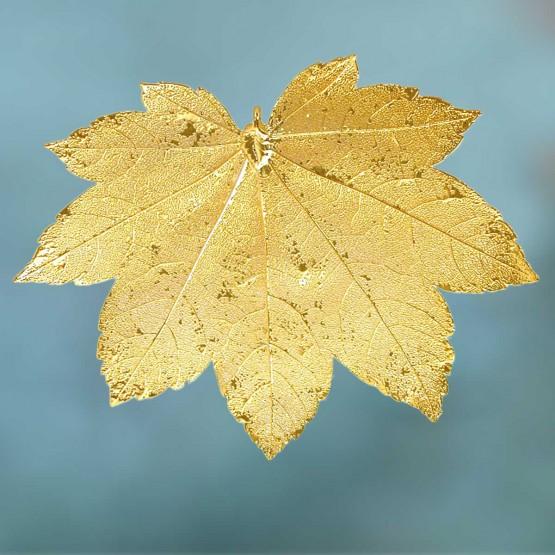 Esdoornblad-goudmetaal