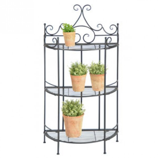 Plantenstaander - 3 niveau's - boogvorm - 113 cm