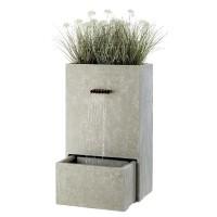 Fontein rechthoekvorm 100 cm met geintegreerde tuinbak