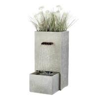 Fontein rechthoekvorm 70 cm met geintegreerde tuinbak