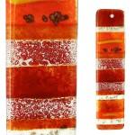 Glasstaaf/Vogelverschrikker in glas - rood
