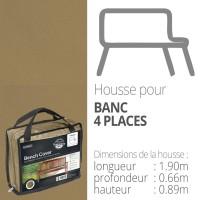 Hoes voor lange zitbank (4 plaatsen) - 190 cm