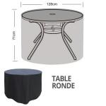 hoes voor tuintafel en stoelen - rond model - 128 cm diameter