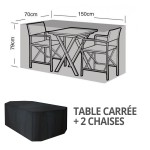 hoes voor tuintafel en stoelen -vierkant