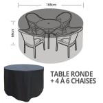 hoes voor tuintafel en stoelen - rond model - 163 cm diameter