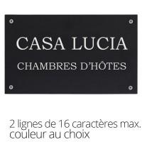 Huisnummerplaatje in gerecycleerd plastiek - EEN lijn met 16 karakters