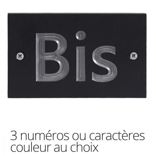 Huisnummerplaatje-drie-karakters
