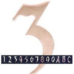 Huisnummer-inox
