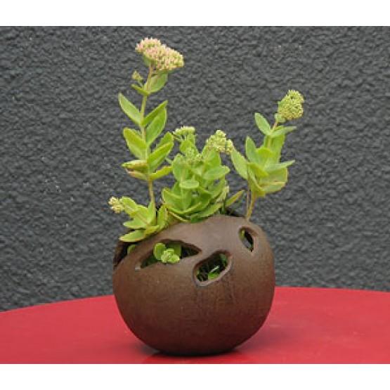 Bolvaas in gietijzer groot -25 cm