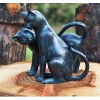 Kattensilhouet in brons - koppeltje