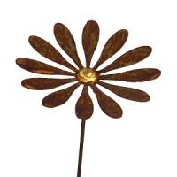 bloem margriet in metaal op stengel 15 cm diameter