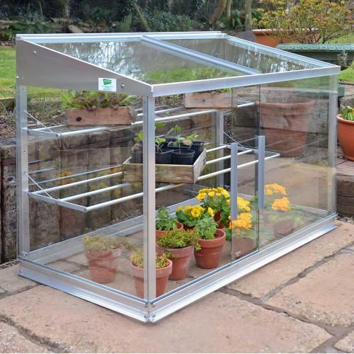 Mini serre glas/aluminium - 0,80 m2