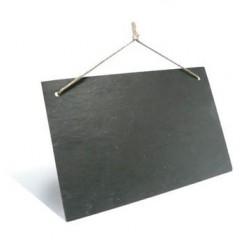 Leisteenbord 30 x 20 cm - set van 3 stuks