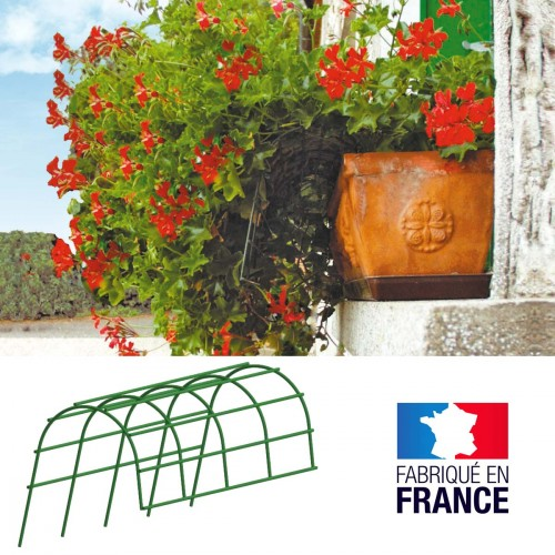 Plantensteun voor bloembakken - set van 2