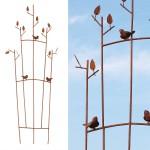 Plantensteun met vogelmotief