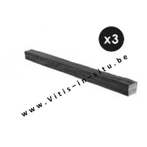 Afboording in zwarte leisteen - 3 stuks van 80 cm
