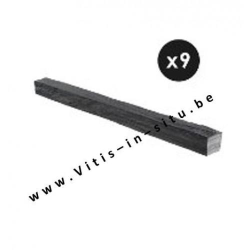 Afboording in zwarte leisteen - 9 stuks van 80 cm