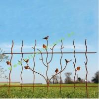 Afsluiting in staal met vogelmotief