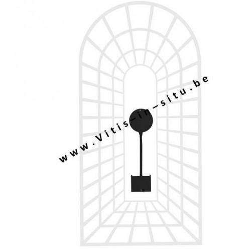 "APPELSIEN SILHOUET - zwart metalen kader "" TROMPE D'OEIL"" - oogmisleiding"