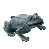 bronzen sculptuur - waterspuwende kikker
