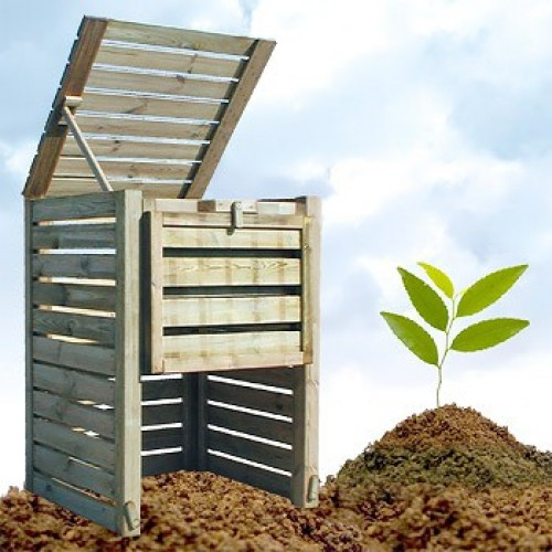 compostvat in hout FSC - 800 liter
