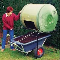 compostvat roterend - 650 liter-een compartimenten