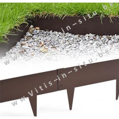 Gebruiksaanwijzing voor plaatsen metalen grasboord