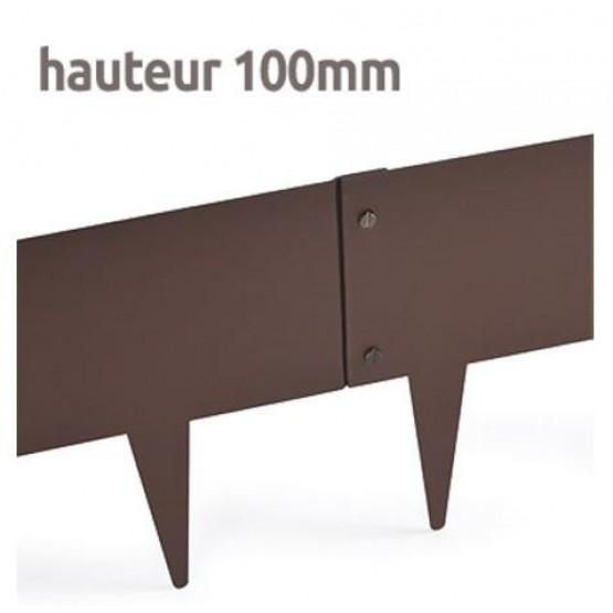 Grasboord in metaal 1m x 10 cm