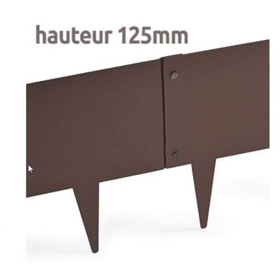 Grasboord in metaal 1m x 12,5 cm