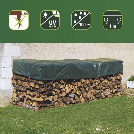 hoes voor houtberging - 1,5 x 6m