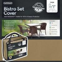hoes voor tuintafel BISTRO rechthoekig + 4 stoelen