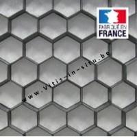 honingraattegel voor grint 120 x 80 cm / ZWART