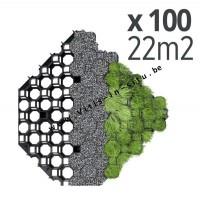 Honingraattegel voor grint of gras 47 x 47 cm- 100 stuks