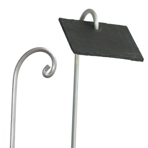 Houder aluminium voor naamplaatjes 80cmx10 stuks