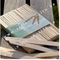 Houten naamplaatjes voor zaaigoed x 50