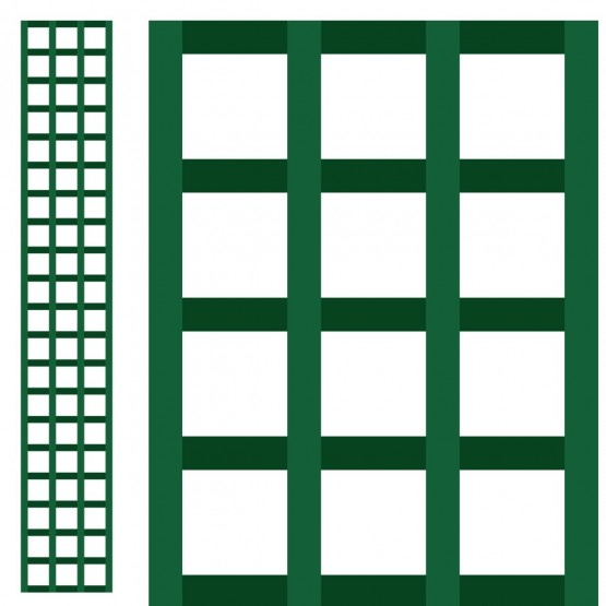 houten paneel 0,3 x 2m - vierkant gerasterd 75mm