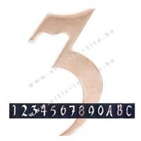 Huisnummer of letter in inox