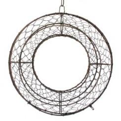 kroon in metalen vlechtwerk - 30 cm diameter