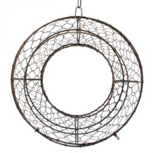kroon in metalen vlechtwerk - 40 cm diameter