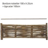 paneel in notelaarshout 100 cm (B) x 35 cm (H)