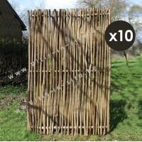 paneel in notelaarshout 120x180 - verticaal - set van 10