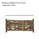 paneel in notelaarshout 70 cm (B) x 35 cm (H)